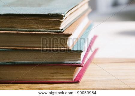 Closed book on the desk
