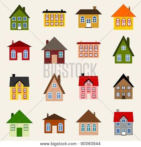 Vector House Set