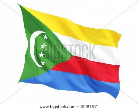 Waving Flag Of Comoros