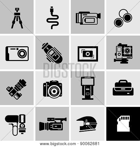 Camera Icons Black