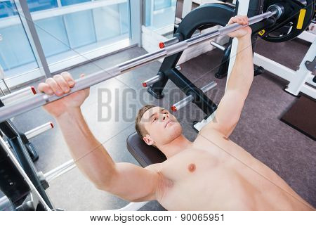 Workout On Bench Press.