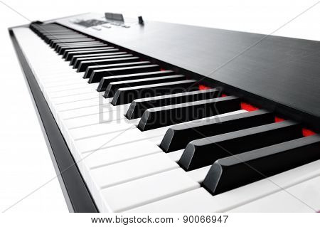 Musical Keyboard On White