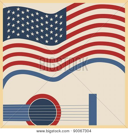 American Country Music Poster