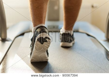 Walking On Treadmill.