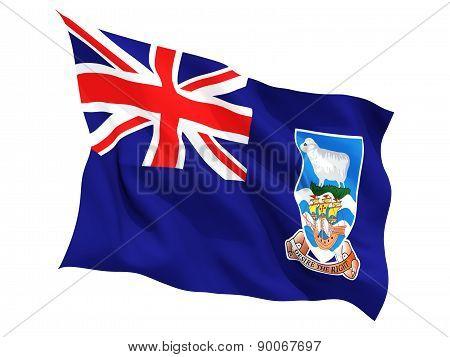 Waving Flag Of Falkland Islands