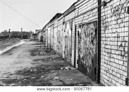 Derelict Industrial Garages