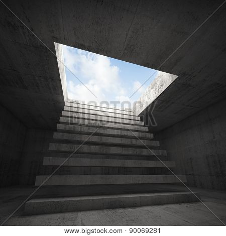 Stairway To Heaven, Empty Concrete 3D Interior