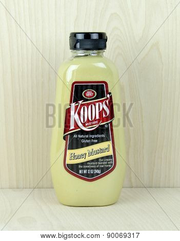 Bottle Of Koops Honey  Mustard