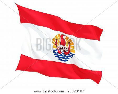 Waving Flag Of French Polynesia