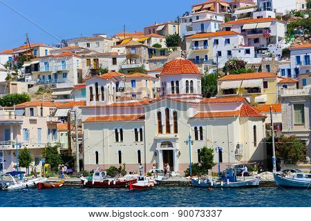 View Of The Beautiful Greek Island, Hydra. Greece, Athens