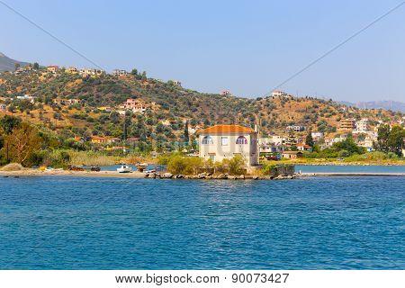 View Of The Beautiful Greek Island, Hydra. Greece, Athens