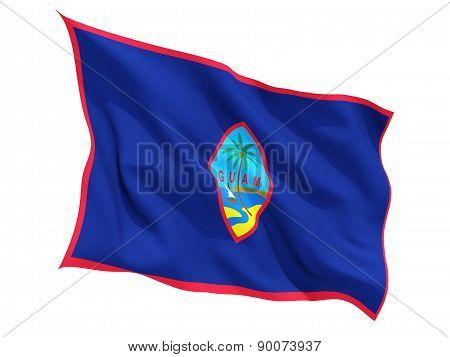 Waving Flag Of Guam