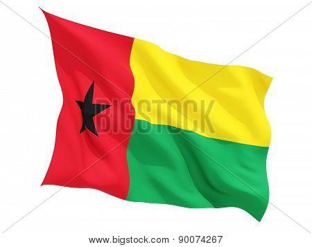 Waving Flag Of Guinea Bissau