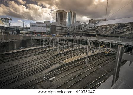 Birmingham, England, May, 3rd,2015.  New Street station is the busiest station outside London, currently under construction.