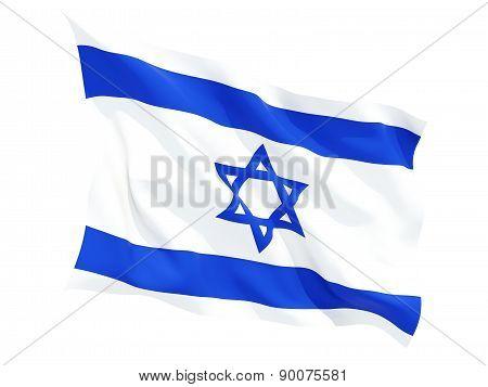 Waving Flag Of Israel