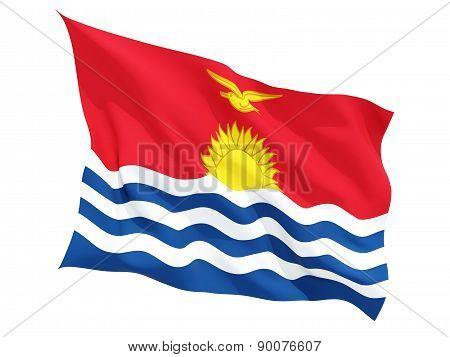 Waving Flag Of Kiribati