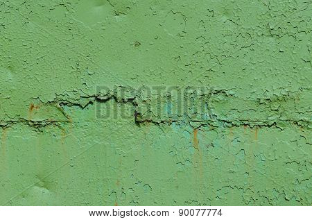 Green Old Painted Metal Texture.