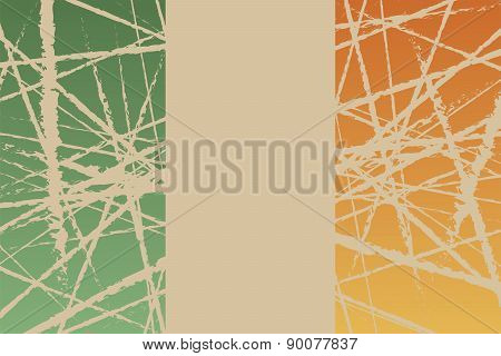 Worn Flag of Ireland