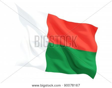 Waving Flag Of Madagascar