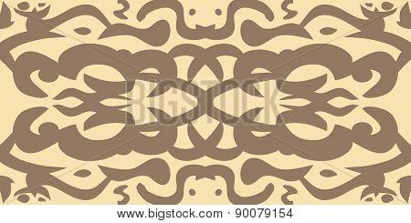 Vintage Brown Wallpaper Pattern