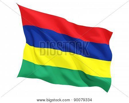 Waving Flag Of Mauritius