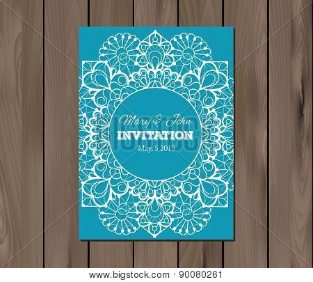 Wedding invitation, card template