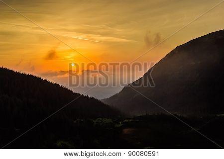Sunrise In The Carpathian Mountains