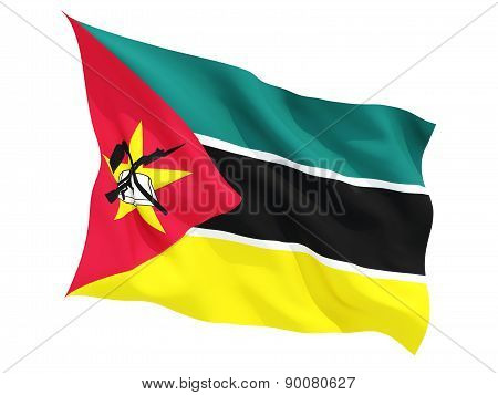 Waving Flag Of Mozambique