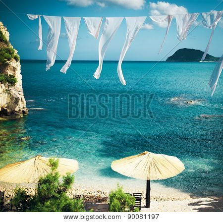 travel, vacation concept - Agios Sostis (Cameo), small island in Greece, Zakynthos