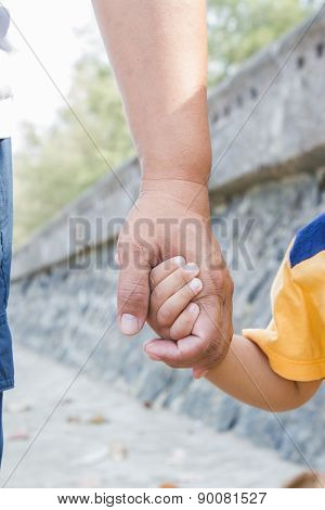 Father Hold His Son's Hand