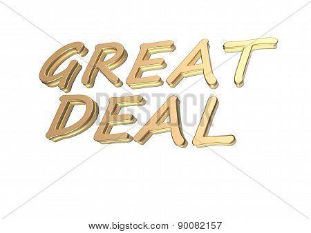 Three-dimensional Inscription Great Deal