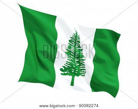 Waving Flag Of Norfolk Island