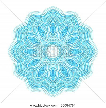 Abstract Blue Drawn Pattern