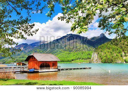 Austrian scenery - lake st Wolfgang