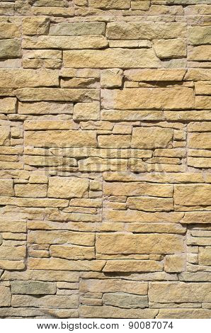 Yellow Cladding Tiles Imitating Stones