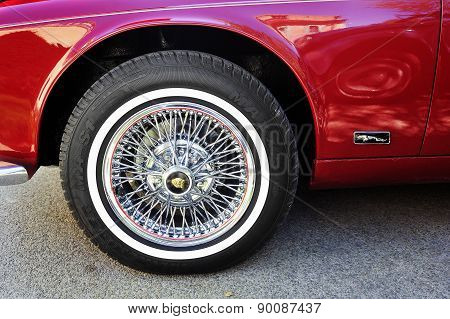 Spoked Wheel Of A Jaguar Xj