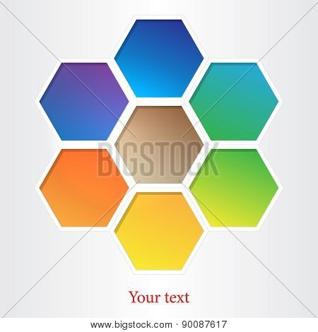 Honeycomb Background. Eps 10 Vector File.