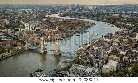 Tower Bridge With River Thames And London Skyline