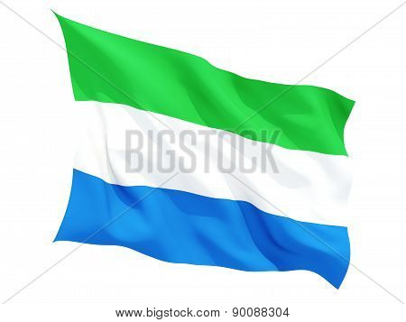Waving Flag Of Sierra Leone