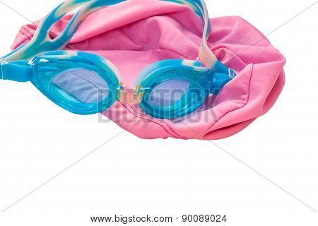 glasses blue and pink cap