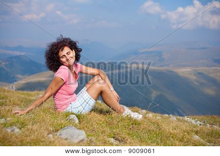 Happy Attractive Lady Outdoor