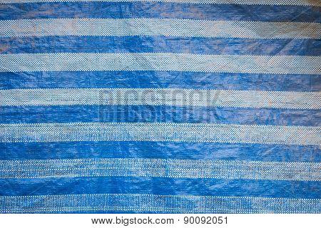 Blue Canvas Close Up