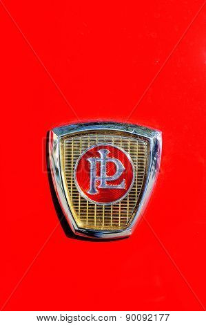 Panhard Brand On The Hood Of A Pl17