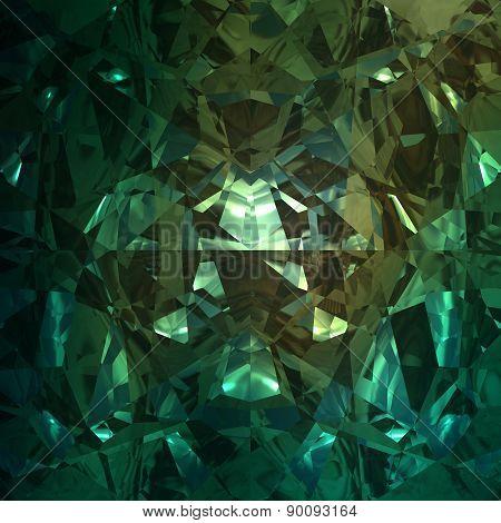 Green Background Of Jewelry Gemstone