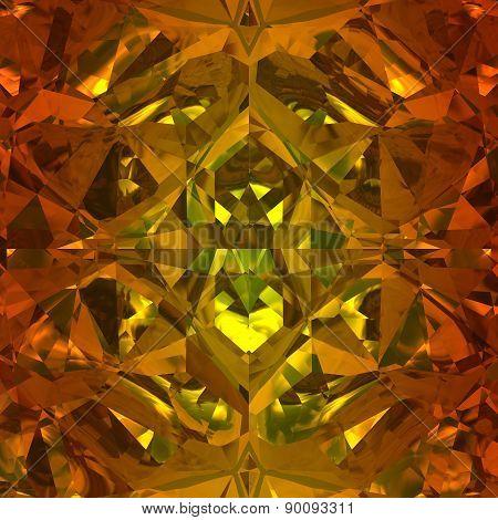Orange Background Of Jewelry Gemstone