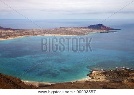 Coastline And Summer In Lanzarote Spain Graciosa