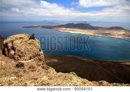 Sky Cloud Beach  Water  Coastline And Summer In Lanzarote Spain