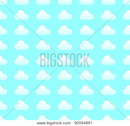 Repeatable Cloud Pattern In Light Blue Colors