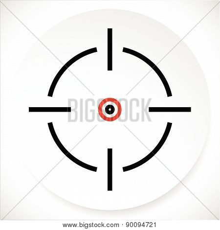 Cross-hair, Reticle Graphics On Circle Shape. Vector