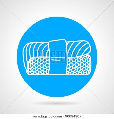 Nigiri sushi round vector icon